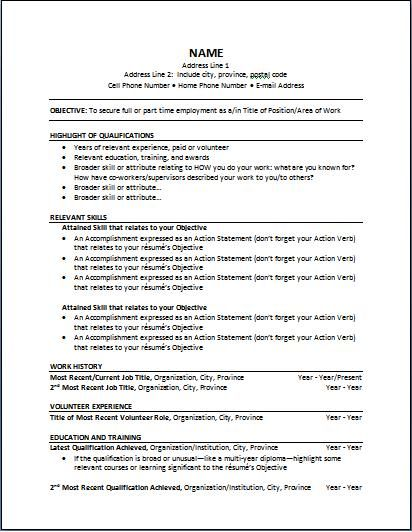 Canada Employment Resume Guide for international workers