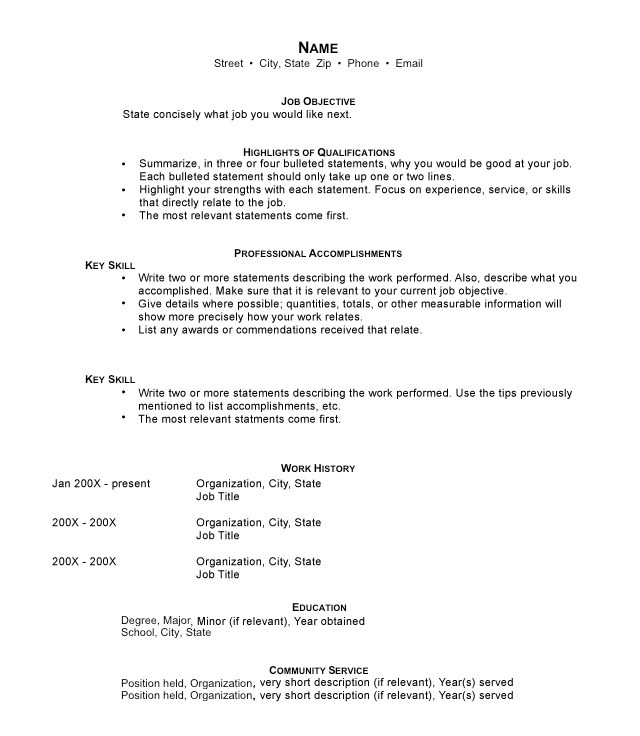 Combination Resume  What Is A Combination Resume
